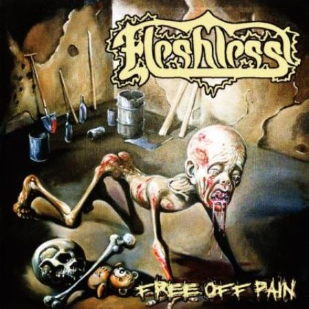 """FLESHLESS """"Free Of Pain"""" + """"Stench Of Rotting Heads"""" /CD/"""
