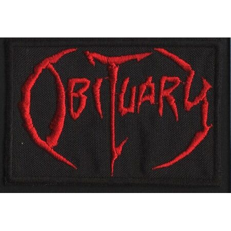 """OBITUARY """"Red Logo"""" /Patch/"""