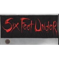 "SIX FEET UNDER ""Red Logo"" /Backpatch/"