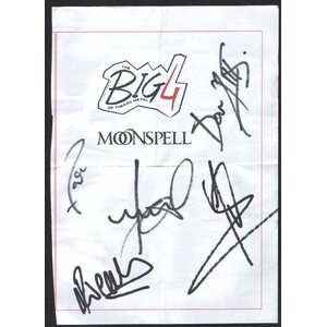 MOONSPELL /Autographed Card/