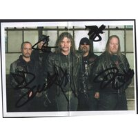 OVERKILL /Autographed Card/
