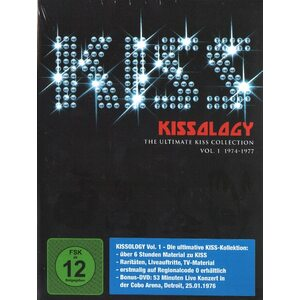 "KISS ""Kissology – The Ultimate KISS Collection, Vol. 1: 1974-1977"" /Slipcase 3DVD Digipack Set; Live/"