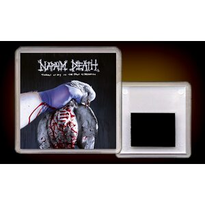 """NAPALM DEATH """"Throes Of Joy In The Jaws Of Defeatism"""" /Acryl Magnet/"""