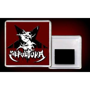"""SEPULTURA """"Logo"""" /Acryl Magnet/"""