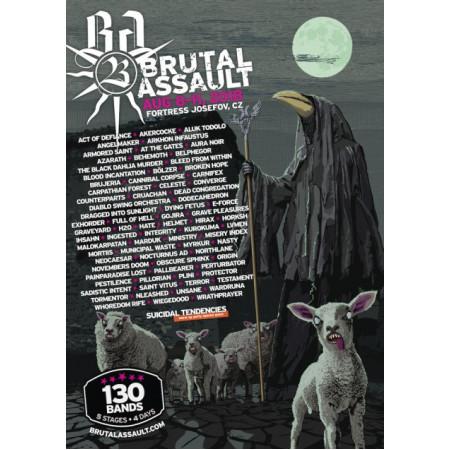 BRUTAL ASSAULT - 23 (2018) /poster + flyer/