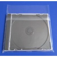 Resealable Cellophane Peel and Seal Jewel Case Outer Sleeves /CD Sleeve/