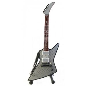 "MINI GUITAR ""ESP - JH-2 Explorer Silver Diamond Plate"" /MG/"